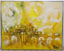 Large LEE REYNOLDS Oil Painting on Canvas  Vanguard St
