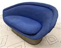 Rare WARREN PLATNER for Knoll Sofa Couch. Steel Rod Fra