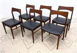 Set 6 VEJLE STOLE Danish Modern Dining Chairs. Mobelfa