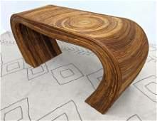 GABRIELLA CRESPI Style Console Table. Thin banded ratta