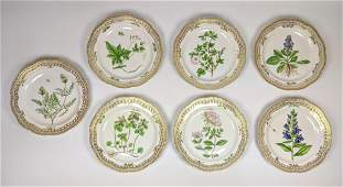 7pcs ROYAL COPENHAGEN Flora Danica Dinner Plates. 10.5