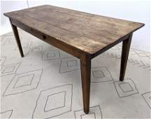 Antique Rustic Country Farm Work Table with 1 Drawer P
