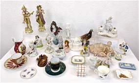 Mixed Vintage Porcelain Ceramic Decorative Lot Inkwell