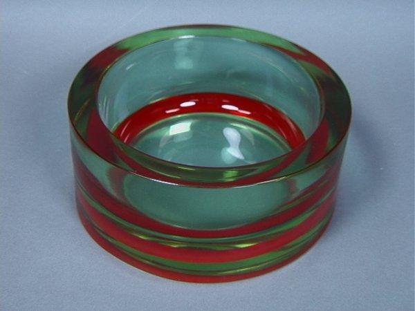 3: Cenedese Italian Murano Cased Glass Bowl.  Thick