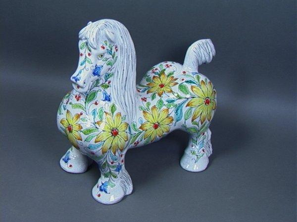 13: Large Italian Terra Cotta Pottery Horse Sculpture