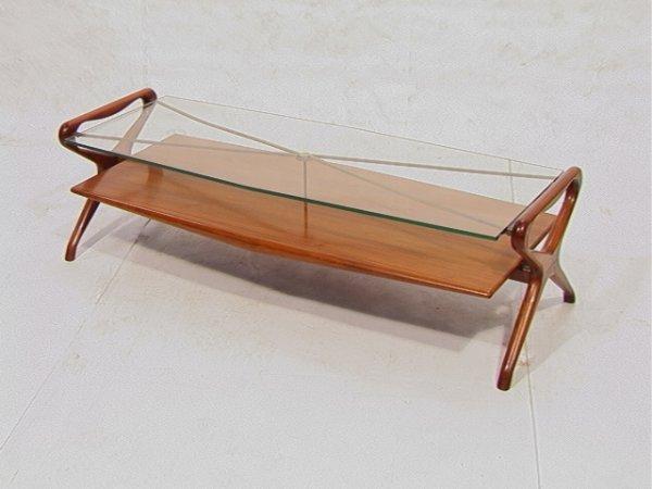 21: Italian Gio Ponti Style Coffee Table.  Open wood
