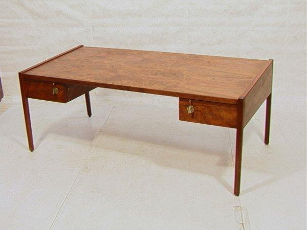 23: Rare Jens RISOM Walnut Desk with Sloped Top.  Rar