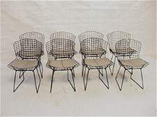297: Set 8 Harry Bertoia Knoll Wire Side Chairs with G