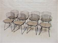 298: Set 8 Harry Bertoia Knoll Wire Side Chairs with G