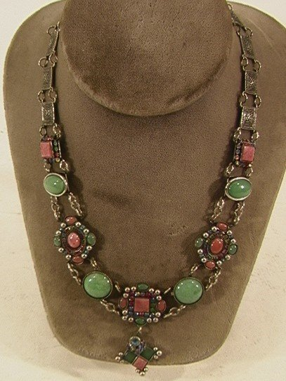 18: COLORFUL STONE RHINESTONE NECKLACE MARY DEMARCO, pa