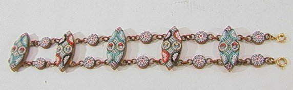 19: VINTAGE MICROMOSAIC BRACELET ITALY, 5 OF THE LINKS