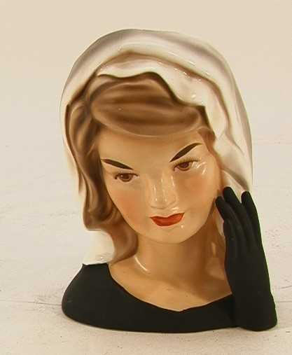 378 Jackie Kennedy Lady Head Vase Jacqueline Ceramic