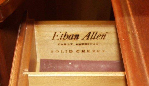 554: 7 pc Cherry Dinette set Ethan Allen Hutch marked L - 6