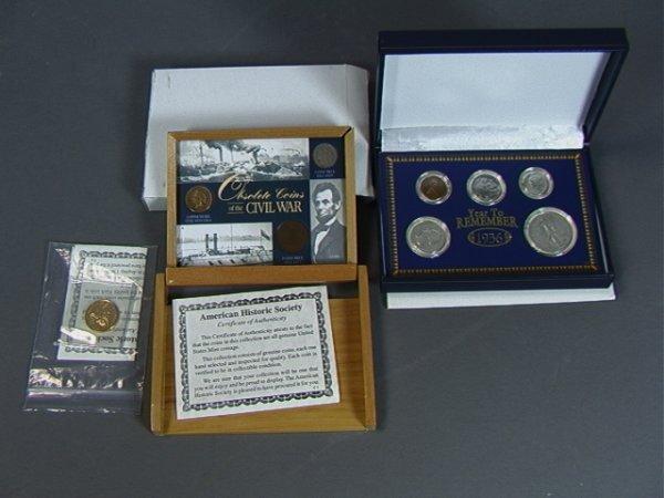 1: Lot COINS AMERICAN 1936 set, CIVIL WAR, 1 2 and 3
