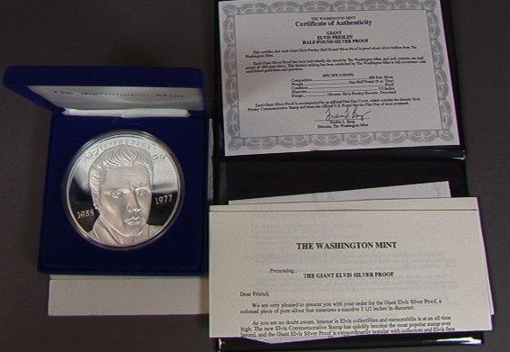 2: Half Pound ELVIS proof coin .995 fine Silver Ster