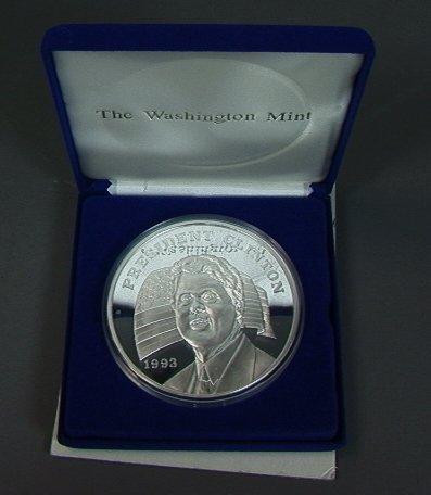 4: Half Pound 1993 Sterling Silver President Clinton