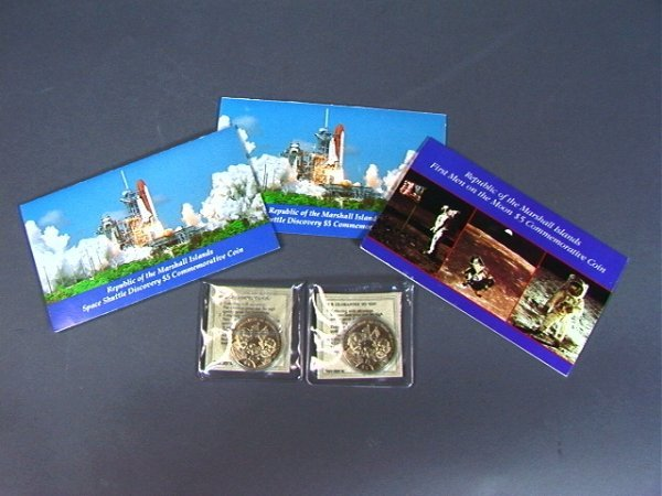 5: COIN Lot: 3 Marshall Island $5 coins. (2) Space S