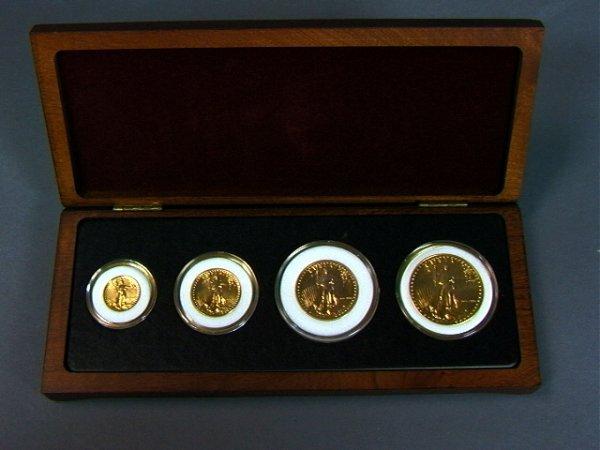 10: GOLD Coin SET: 1986 American Liberty. $50, $25, $