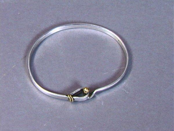 21: TIFFANY & CO Sterling 18K GOLD Bracelet. Mk'd.