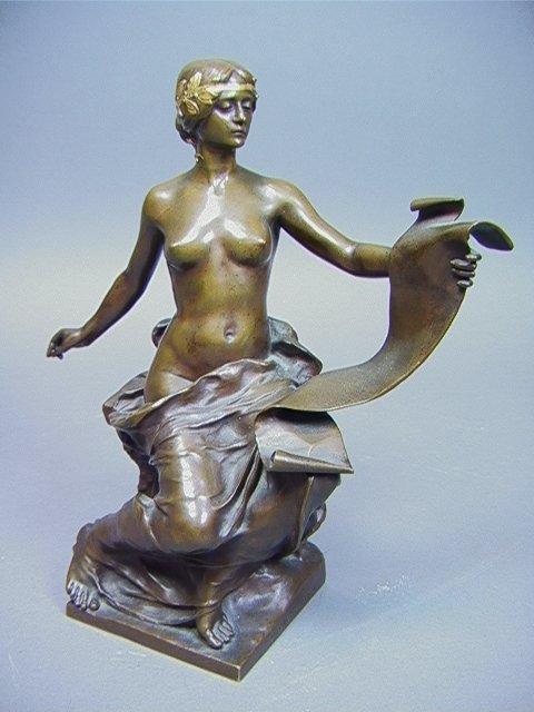133: GEORGES BAREAU Bronze Sculpture F. BARBEDIENNE fo