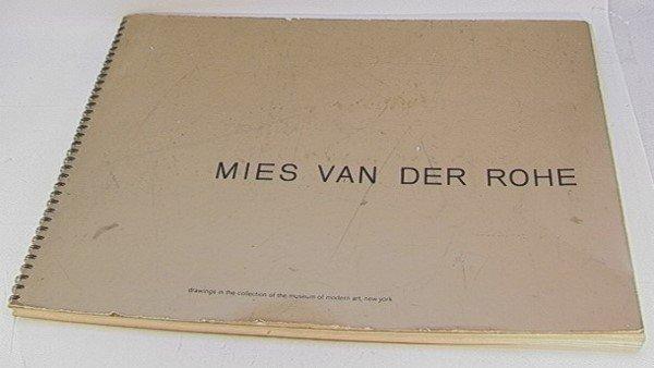 619: MIES VAN DE ROHE BOOK FOLIO DRAWINGS MOMA. Archite
