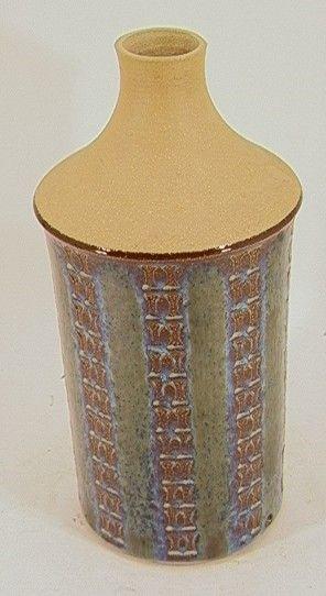 GOHOLM OTENTOJ DENMARK GLAZED POTTERY LAMP BASE. H