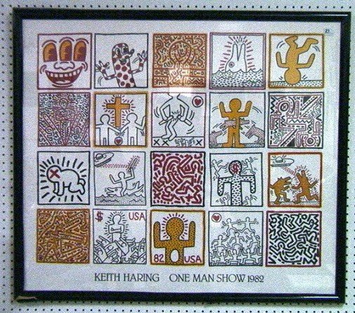 645: KEITH HARING 1982 ONE MAN SHOW POSTER. Printed in