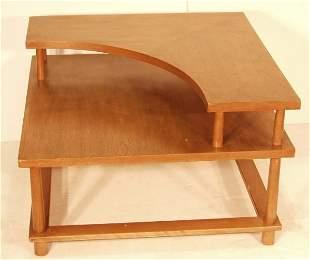 ROBSJOHN GIBBINGS CORNER TABLE OVERSIZED. Two tier