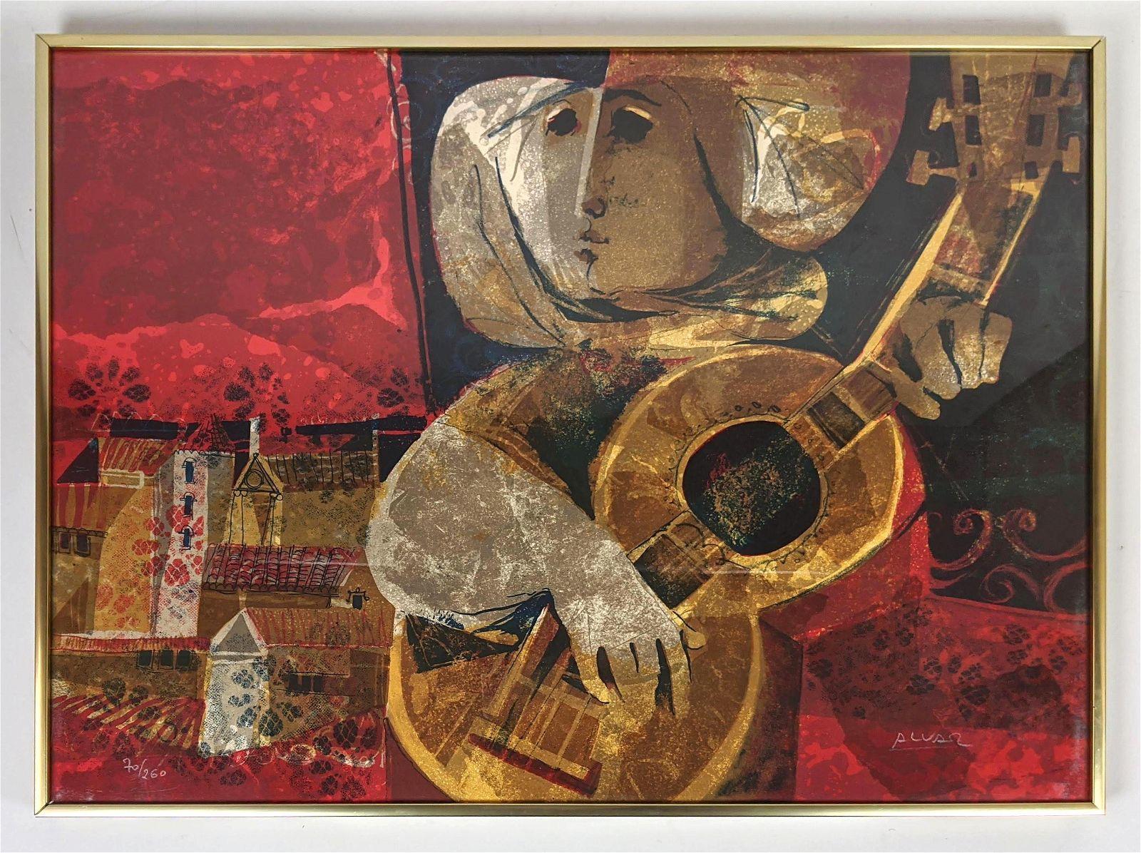 ALVAR SUNOL MUNOZ-RAMOS Lithograph Print. Signed and N