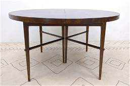 TOMMI PARZINGER Oval Dining Table. Tapered Legs.