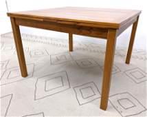 ANSAGER Danish Modern Teak Dining Table. Refractory Sty