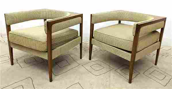 Pair DREXEL Cube Lounge Chairs. COUNTERPOINT line. Amer