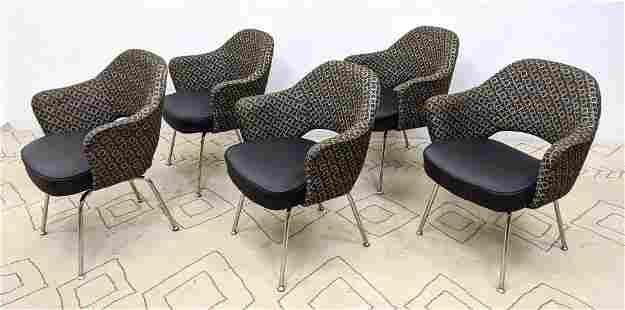 Set 5pc Eero Saarinen for KNOLL INC Chairs. Executive A