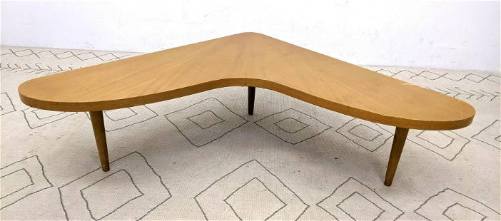 Modernist Mid Century WIDDICOMB Cocktail Table. Angled