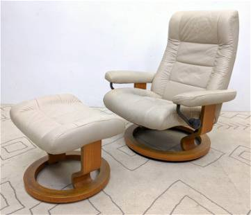 EKORNES Stressless Lounge Chair Made in Norway.