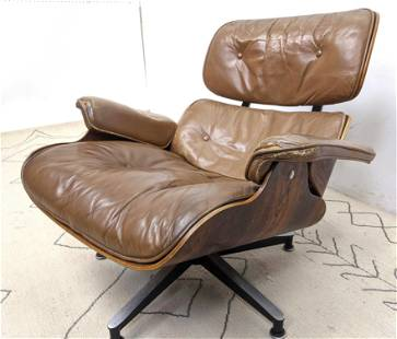 EAMES Herman Miller Lounge Chair and Ottoman. 670 Rosew