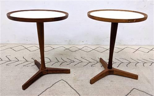 Pair HANS C. ANDERSEN Taboret Side Tables. Danish Moder