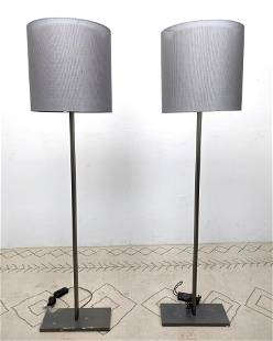 Pair SANTA and COLE Large Floor Lamps.