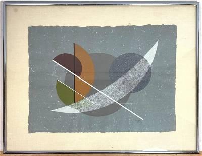 CESAR DOMELA Abstract Geometric Lithograph Print. Sign