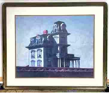 Edward Hopper Framed Print. Framed under glass. Frame