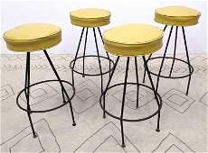 Set 4 Frederick Weinberg Style Bar Stools. Hairpin Iron