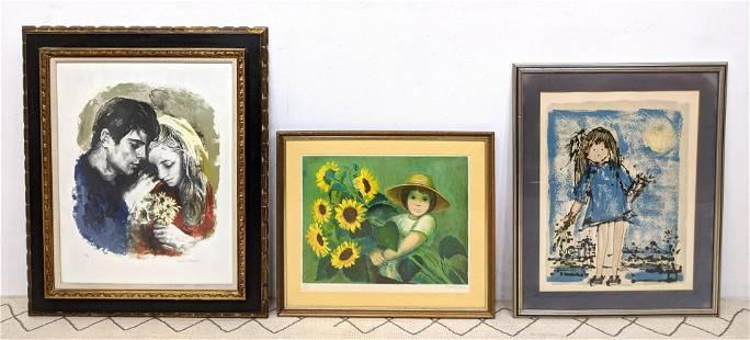 3 Vintage Prints Yanni Posnakoff Angelina Lavernia S