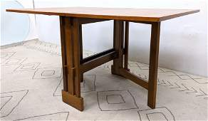 Danish Modern Teak Drop Side Dining Table. Gateleg.