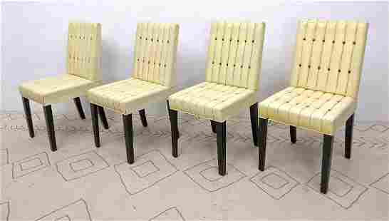 Set 4 Parzinger Style Dining Chairs Tufted upholstery