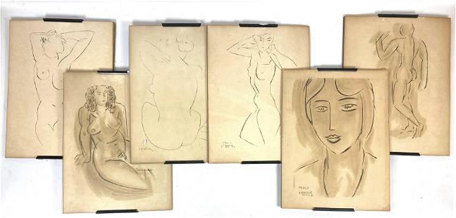 6pcs HENRI MATISSE Prints. clip frames.