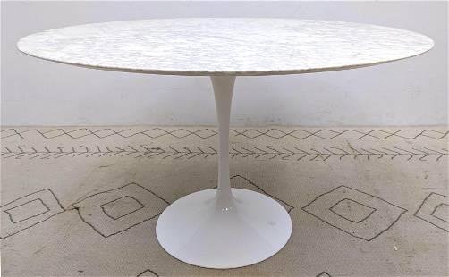 Eero Saarinen for KNOLL Tulip Dining Table. Marble top