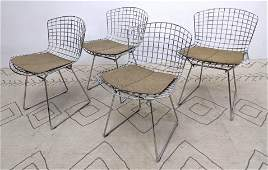Set 4 HARRY BERTOIA Metal Grid Modernist Chairs. Knoll