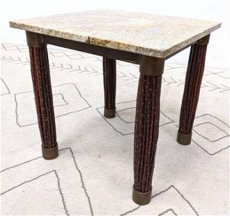 Decorator Side Square Table Marble Top on metal frame