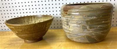 2 pcs Large Art Pottery. Robinson, Davidson.