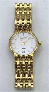 RAYMOND WEIL Fidelio Wrist Watch. 18K Gold Electroplate